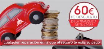 oferta Descuento de 60€ en la franquicia de tu coche