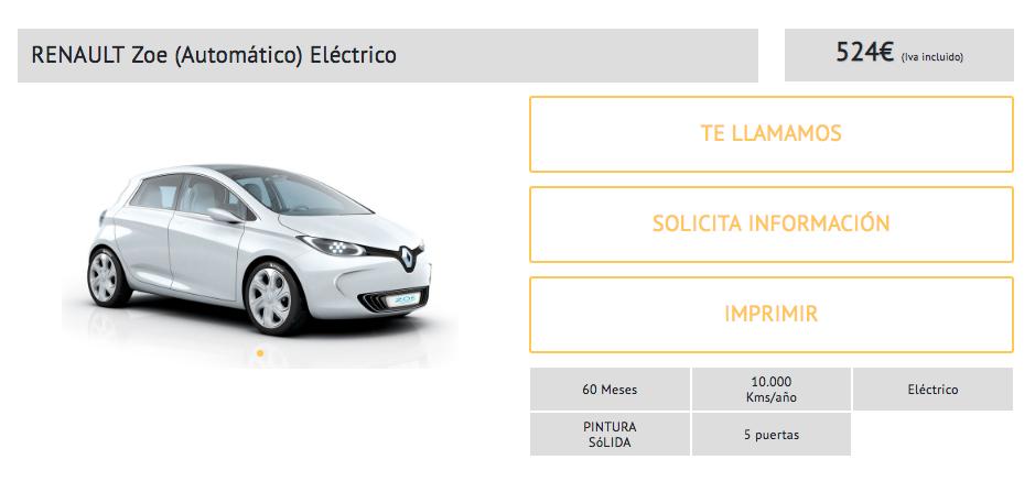 renault renting electrico